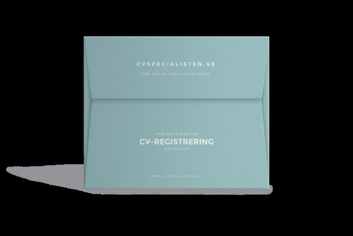 Registrering av ditt CV